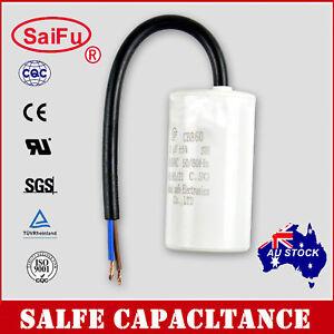 CBB60 Appliance Motor Run Capacitor wire Lead AC 450V 50/60Hz 8uF OZ SELLER