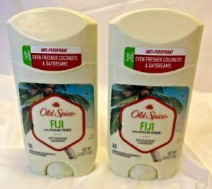 2X Old Spice Fiji Antiperspirant & Deodorant 2022 Palm Tree Scent Coconut 2.6Oz