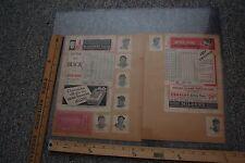 1938 CINCINNATI REDS TEAM SIGNED SCORECARD HERSHBERGER  DERRINGER LOMBARDI +12