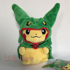 "Pokemon Pretend Mega Rayquaza Cape Pikachu Plush Soft Toy Doll Teddy 9"""