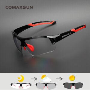 New Photochromic Cycling Glasses Discoloration Bike GogglesSports Eyewear 817