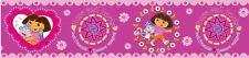 DORA THE EXPLORER & BOOTS best friends  peel & stick WALLPAPER BORDER wall decor