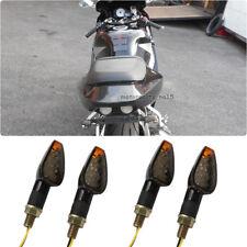 4x 12V Smoke Lens LED Sportbike Turn Signals Light Amber For Honda Yamaha Suzuki