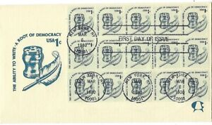 2 1980 FDCs 1c coil Ink and quill on Andrews SC#1811  1980 Olympics B4 no Cachet