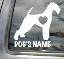 Airedale Terrier Dogs Heart Love Custom Text Puppy Car Vinyl Decal Sticker 01102