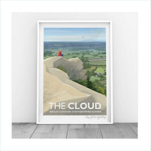 Original Illustrated print of the Bosley Cloud The Cloud Congleton Print Only