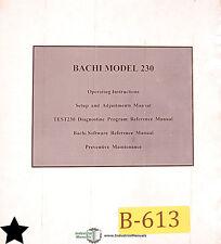 Bachi Model 230, Coil Winding Machine, Programming Setup and Operations Manual