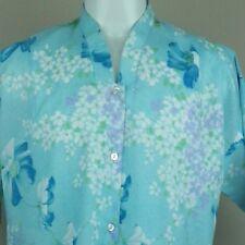 Sun Fashions Of Hawaii Womens Hawaiian Blouse Size 18 Flowers Smock