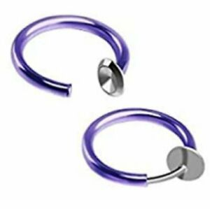 Clip-On Spring Action Non-Piercing Fake Septum Lip Cartilage Nose Tragus Ring
