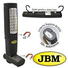 LINTERNA LAMPARA PORTATIL DE TALLER 24 + 6 LEDS RECARGABLE JBM PROFESIONAL 51889