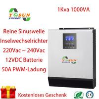 1000VA PWM Hybrid Wechselrichter 50A Solar Wechselrichter 220Vac 12Vdc Inverter