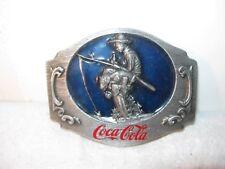 Coca Cola Boy Fishing Soft Drink Siskiyou Vintage Belt Buckle