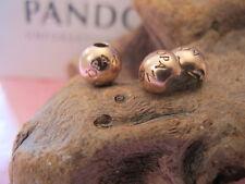 ORIGINALE Pandora in Argento Paio di oro rosa logo tappi/Clip Ciondolo 781015 ALE R