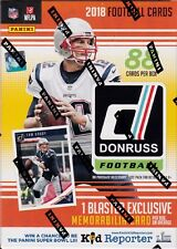 2018 Panini Donruss Football sealed blaster box 11 packs of 8 NFL cards 1 hit