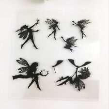 Angel Transparent Seal STAMPS Enchanted Garden Fairies Clear Rubber Stamp