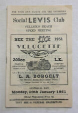 1951 Sellick's Beach Speed Programme Racing Touring Sports Motorcycle Program