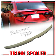 Unpainted For 14-17 Mazda 3 Axela 4D Sedan OE Style Trunk Boot Spoiler SV GT