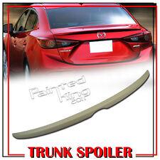 Unpainted OE-Type Rear Trunk Spoiler Wing For 2014~2016 Mazda 3 Axela Sedan