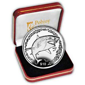 British Virgin Islands 2016 Lemon Shark Proof Silver Coin