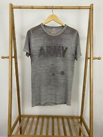 VTG 80s Army Classic Fitness Super Thin Burnout Thrashed T-Shirt Size L