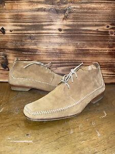Stephane Kelian Mens Ankle Moccasin boots Size 9 US, 8 France Light brown