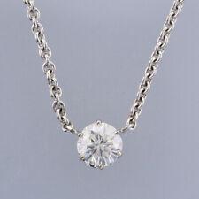 1.62 Quilates Diamante Colgante Collar 18ct Oro Blanco