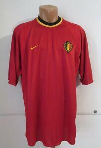 BELGIUM EURO 2000/2001/2002 HOME FOOTBALL SHIRT JERSEY MAILLOT TRIKOT NIKE (XL)