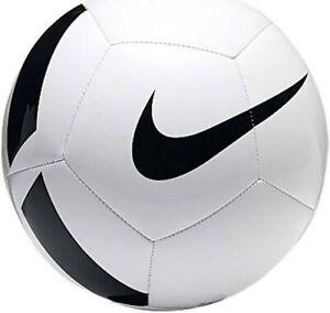 Nike Football Pitch Team Size 5 White Black Soccer Training Game Sport Ball