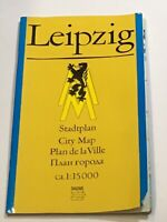 DDR Stadtplan Leipzig City Map 1:15000 VEB Tourist Verlag Berlin 7. AL 1984
