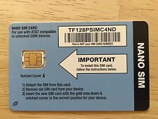 New Tracfone Bring Your Own Smart Phone Gsm 4G/3G Nano Sim Card At&T