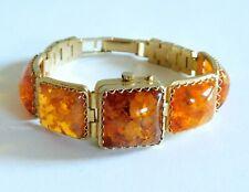 Gorgeous Vintage Russian Yanka 17 Jewels Lucite Confetti Hidden Watch Bracelet