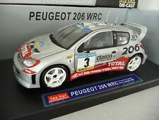 Peugeot 206 WRC - PANIZZI - Rally Catalunya 2002 N°3 - SUNSTAR 1/18