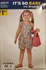 It's So easy Simplicity pattern A8370 Girls' Jumpsuit & Bag sz 3,4,5,6,7,8 uncut