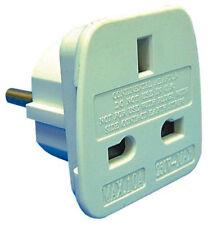 Adaptadores de enchufes eléctricos blanco