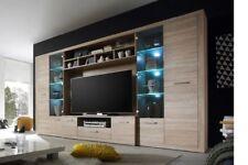 TV HiFi Media Wohnwand Eiche Sonoma mit LED Beleuchtung Woody 61-00189