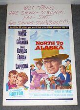 NORTH TO ALASKA original 1960 ROLLED movie poster JOHN WAYNE/STEWART GRANGER