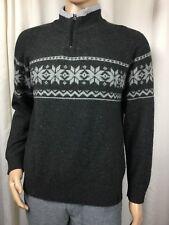 COLUMBIA winter wool snowflake sweater grey/white . men's L / women's XL