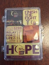 American Cancer Society Relay For Life Magnets (set Of 5 )
