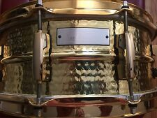 Pearl Hand Hammered BRASS  Signature Snare Drum Jimmy DeGrasso 5.5x14 Gold