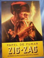 VINTAGE 60S 70S ZIG ZAG ROLLING PAPER SIGN pot joint spanish marijuana weed 420