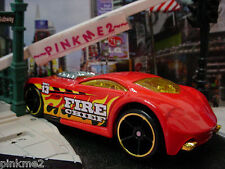 2013/2014 CITY WORKS Design Ex SIR OMINOUS∞Red,Fire Chief 13 ∞LOOSE∞Hot Wheels