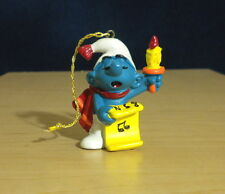 "Smurfs Christmas Caroler Ornament Smurf Vintage Figure Toy PVC 2"" Figurine 51905"