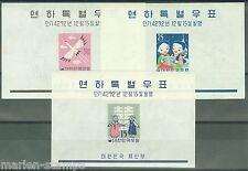 KOREA  CHRISTMAS  S/S  SCOTT#298A/300A  MINT NEVER HINGED ORIGINAL GUM