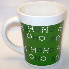 Christmas Mug Ho Ho Ho Coffee Tea Latte Hot Cocoa Green White