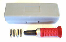 "3/8"" SOFT GRIP IMPACT DRIVER SCREWDRIVER w/CASE & BITS"