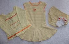 Girls Gymboree LOT 4pc Yellow Dress Shirt Socks Outfit Set Sz 12-18M Months