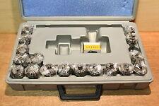 """Ü2, ER32-C-18, ER32 de alta calidad 18 piezas Conjunto de pinzas en caja de plástico """"Mechanika"""""""