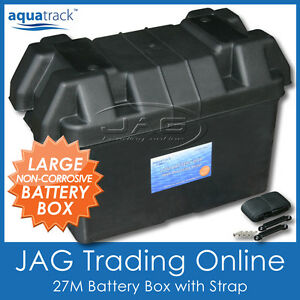 .AQUATRACK 27M LARGE BATTERY BOX HOLDER - Boat/Marine/Caravan/4x4/Car/Truck/RV