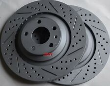 Fits Audi A6 Quattro 4.2 Drilled Slotted Brake Rotors Made In Germany Rear
