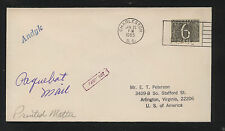 Netherlands   paquebot   Adnyk   cover  to  US          MS0825